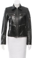 DKNY Fitted Leather Jacket