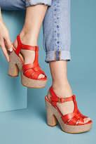 Anthropologie T-Strap Platform Sandal