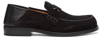 Maison Margiela Black Suede Loafers
