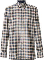 Hackett long sleeved checked shirt