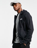 Nike Club zip-up hoodie in black BV2645