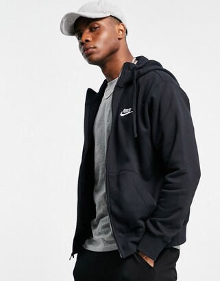 Nike Club zip-up hoodie in black BV2645