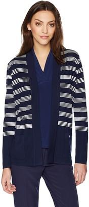 Anne Klein Women's Striped Malibu Cardigan