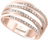 Effy Pavé Rose by Diamond Statement Ring (1/3 ct. t.w.) in 14k Rose Gold