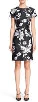 Michael Kors Women's Rose Print Jacquard Dress