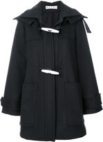 Marni toggle hooded coat - women - Viscose/Virgin Wool - 40