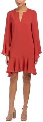 BCBGMAXAZRIA Azria Women's Teegan Woven Flutter Sleeve Dress