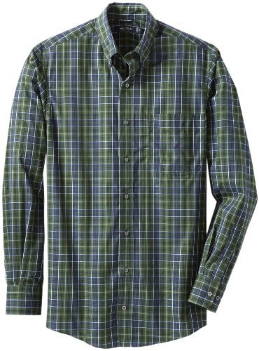 Nautica Men's Big-Tall Blackwatch Plaid Shirt