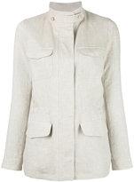 Loro Piana cargo jacket - women - Linen/Flax - 42