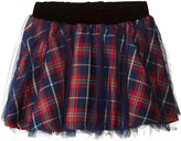 Andy & Evan Holiday Plaid Skirt (Toddler/Kid) - Red - 2T