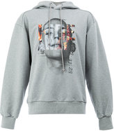 Juun.J graphic printed hoodie - men - Cotton/Polyurethane - 44