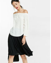 Express crocheted lace off the shoulder blouse