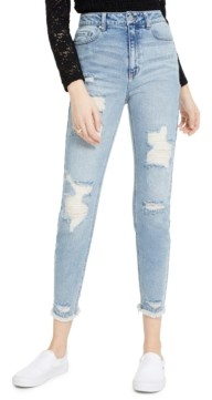 Tinseltown Juniors' Distressed Mom Jeans