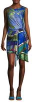 Rachel Roy Miami Print Asymmetrical Dress