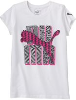 Puma Girls 7-16 Logo Glitter Graphic Tee