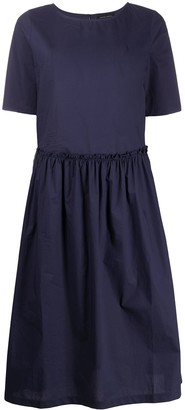 Roberto Collina Short Sleeve Ruffled Skirt Dress
