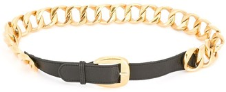 Chanel Pre Owned 1980s Curb Chain Belt