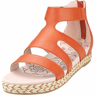 Mootsies Tootsies Women's Kami Sandal Orange 9 Medium US