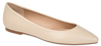 Brinley Co. Womens Almond Toe Ballet Flat