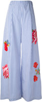 Jucca floral flared trousers
