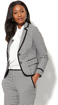 New York & Co. 7th Avenue Jacket - Two-Button - Gingham