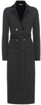 Bottega Veneta Plaid Wool And Cashmere Coat