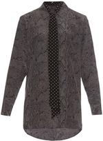 Equipment X Kate Moss Daddy oversized silk shirt