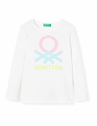 Benetton Girl's T-Shirt M/l Long Sleeve Top