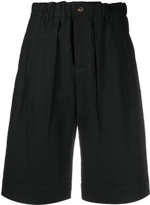 Brunello Cucinelli High-Waisted Knee-Length Shorts