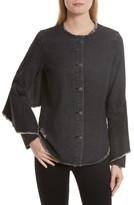 Robert Rodriguez Women's Denim Ruffle Shirt