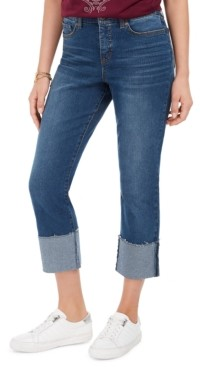Style&Co. Style & Co High-Rise Crop Straight-Leg Jeans, Created for Macy's