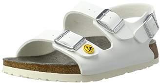 Birkenstock Unisex Adults' Milano Birko-Flor ESD Ankle Strap Sandals,7 UK