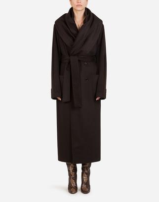 Dolce & Gabbana Belted Cashmere Robe Coat
