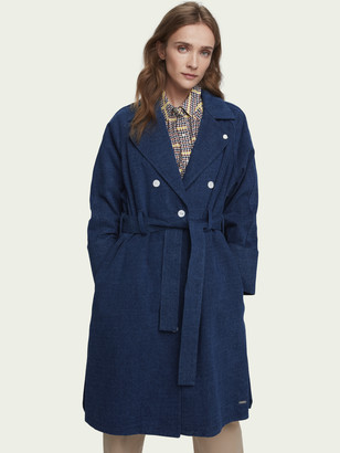 Scotch & Soda Long belted denim trench coat | Women