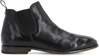 Moma Waxed Leather Chelsea Boots