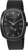 Philip Stein Teslar Men's 72B-CRGBK-MSSBP Modern Analog Display Swiss Quartz Watch