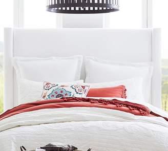Pottery Barn Harper Upholstered Tall Bed