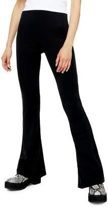 Topshop Cupro Flare Pants