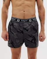 Aape By A Bathing Ape AAPE By A Bathing Ape camo boxer short in black