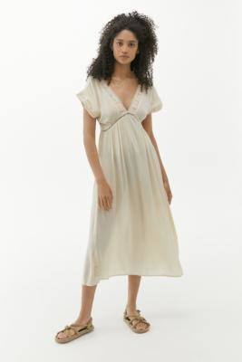 Urban Outfitters Jax Midi Dress - White M at