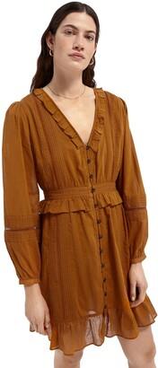 Scotch & Soda Long Sleeve Button Front Organic Cotton Dress