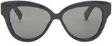 Linda Farrow Snakeskin and acetate cat-eye sunglasses