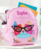 Personalized Planet Backpacks - Hipster Cat Personalized Backpack
