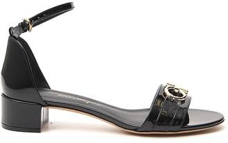 Salvatore Ferragamo Gancini Ankle Strap Sandals