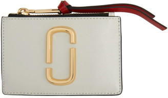 Marc Jacobs Off-White The Snapshot Top Zip Card Holder