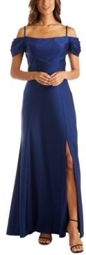 Night Way Nightway Petite Cold-Shoulder Gown
