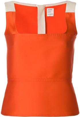Maison Rabih Kayrouz colour-block fitted vest top