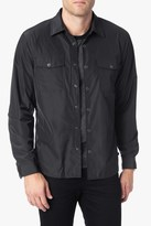 7 For All Mankind Snap Front Shirt Jacket In Black