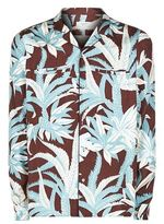 Valentino Palm Print Silk Pyjama Shirt