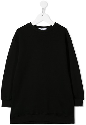 Msgm Kids Long-Sleeve Sweater Dress